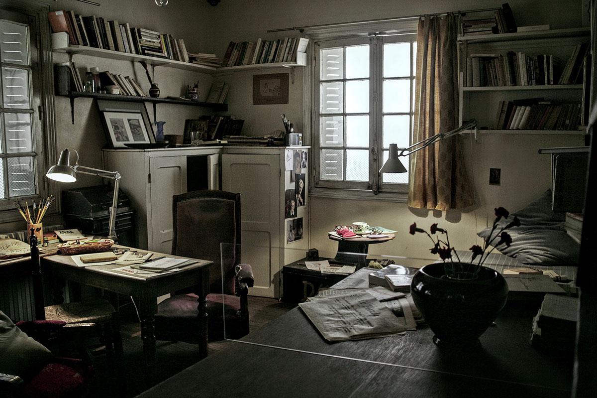 photographie couleur de la chambre de Józef Czapski